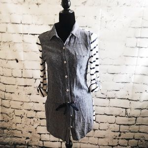 ANTHOLOGY POSTMARK Chambray stripped shirt dress
